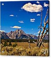 Grand Tenton Overlook Acrylic Print
