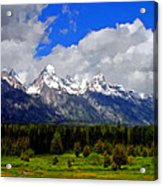 Grand Teton Mountains Acrylic Print
