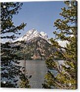 Grand Teton On Jenny Lake - Grand Teton National Park Wyoming Acrylic Print