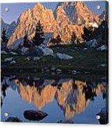 1m9376-grand Teton Reflect 2 Acrylic Print