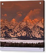 Grand Teton Winter Sunrise  Acrylic Print