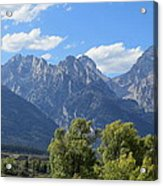 Grand Tetons Acrylic Print by Diane Mitchell