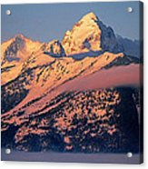 Grand Tetons In Winter Acrylic Print