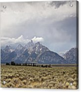 Grand Thunder - Grand Teton National Park - Wyoming Acrylic Print
