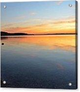 Grand Traverse Bay Sunset Acrylic Print