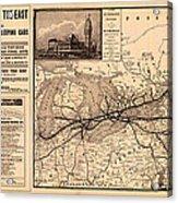 Grand Trunk Railway Map 1887 Acrylic Print