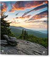 Grandfather Mountain Blue Ridge Parkway Nc Beacon Heights At Sunrise Acrylic Print