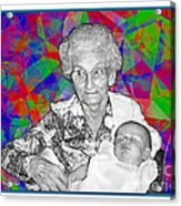 Grandma And Rose Acrylic Print