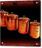 Grandma's Kitchen-copper Canister Set Acrylic Print