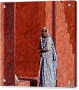 Grandmother In India Acrylic Print