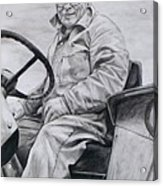 Grandpa Acrylic Print by Joy Nichols
