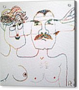 Grandparents-to-be Acrylic Print