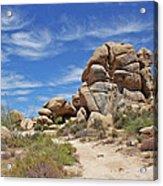 Granite Boulders In The Desert Acrylic Print
