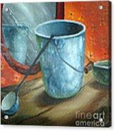 Granite Bucket Reflections Acrylic Print