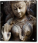 Granite Indian Goddess Acrylic Print by Tim Gainey
