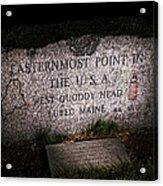 Granite Monument Quoddy Head State Park Acrylic Print