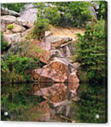 Granite Quarry And Reflections In The Missouri Ozarks Acrylic Print