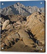 Granite Rock Formations, Alabama Hills Acrylic Print