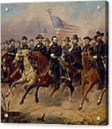 Grant And His Generals Acrylic Print