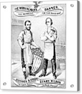 Grant And Wilson 1872 Election Poster  Acrylic Print