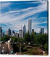 Grant Park Chicago Skyline Panoramic Acrylic Print
