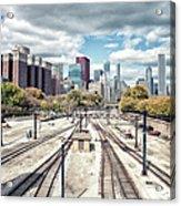 Grant Park Railroad Tracks Acrylic Print