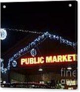 Granville Market Christmas Lights Vancouver Acrylic Print