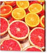 Grapefruit And Oranges Acrylic Print