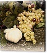 Grapes And Garlic Acrylic Print