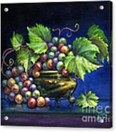 Grapes In A Footed Bowl Acrylic Print by Jane Bucci