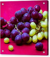 Grapes White And Red Acrylic Print