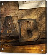 Graphic Artist - Ab Acrylic Print