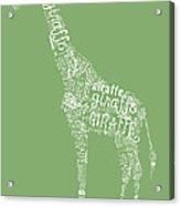 Graphic Giraffe Acrylic Print