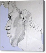Graphite Portrait Sketch Of A Young Man In Profile Acrylic Print