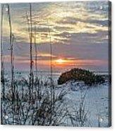 Grass And Mound Sunrise Acrylic Print