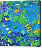 Grass Over Pond Acrylic Print
