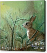Grass Rabbit Acrylic Print