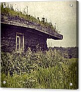 Grass Roof On Cottage Acrylic Print