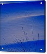 Grasses And Twilight Snow Drifts Acrylic Print by Irwin Barrett