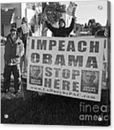 Grassroots Impeach Obama Movement Acrylic Print