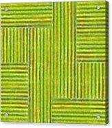 Grassy Green Stripes Acrylic Print