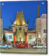 Grauman's Chinese Theater Night Beautiful Lights Acrylic Print