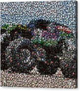 Grave Digger Bottle Cap Mosaic Acrylic Print by Paul Van Scott