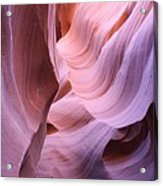 Graved Sandstone Of Antelope Canyon Acrylic Print