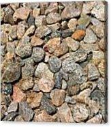 Gravel Stones Acrylic Print