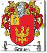 Graves Coat Of Arms Irish Acrylic Print