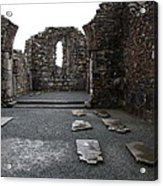 Graveyard In Church Ruin - Ireland Acrylic Print