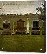 Graveyard Landscape Photograph Acrylic Print