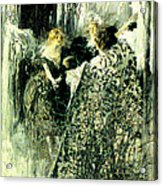 Graveyard Talk 1899 Acrylic Print by Padre Art