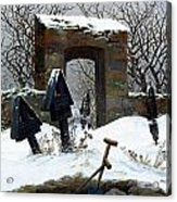 Graveyard Under Snow Acrylic Print